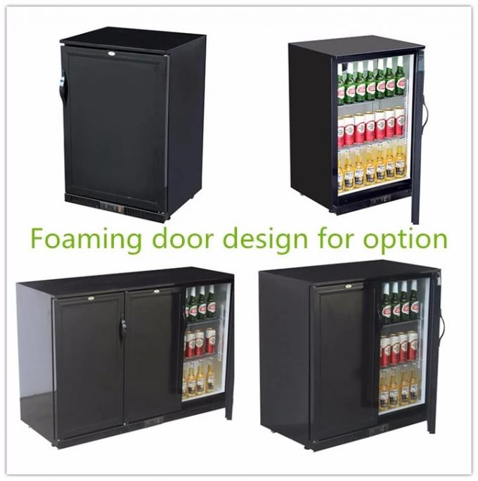 850mm Height 198L LED Lighting Sliding Doors Mini Display Fridge,Back Bar Cooler
