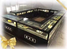 Commercial Fan Cooling Refrigerated Cake Display Cabinets Steam For Humidification