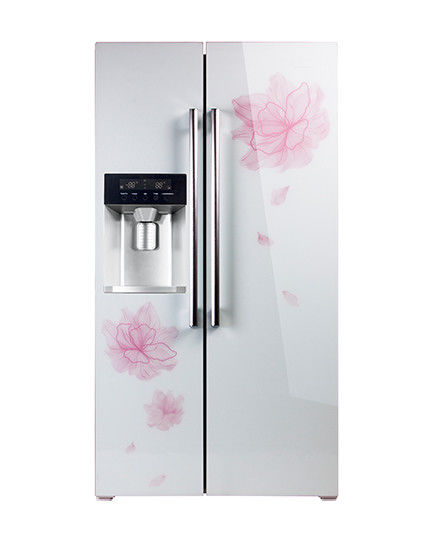Double Doors Side By Side Refrigerator Freezer 550L Big Capacity With Ice Maker