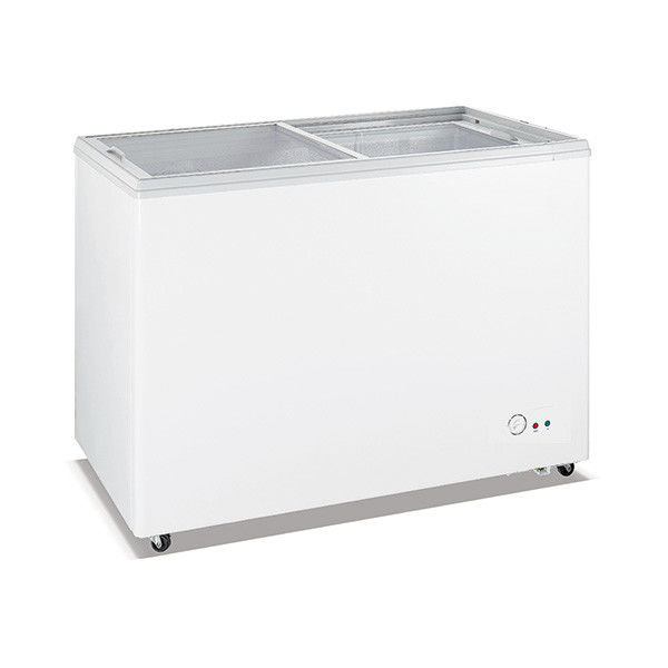 Commercial Deep Freeze Chest Freezer , Stainless Steel Chest Freezer 650L Capacity