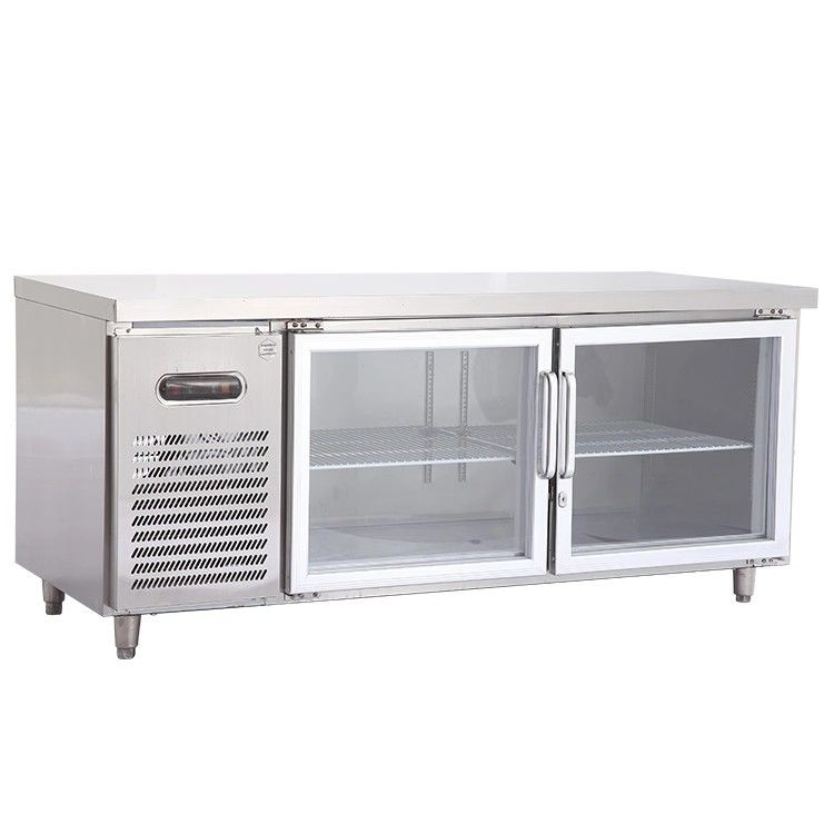 270L Commercial 2 Door Under Bench Freezer Convenient Design For Maintenance